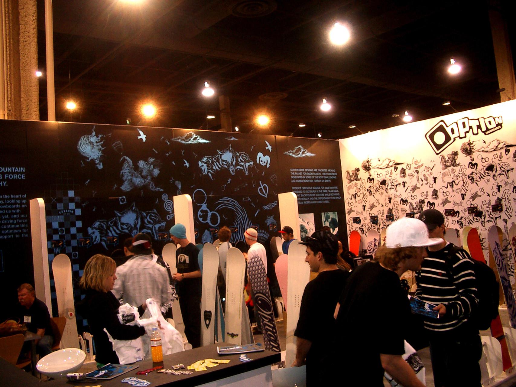 Exhibition Booth Sia : Option snowboards sia tradeshow booth u dan fong design