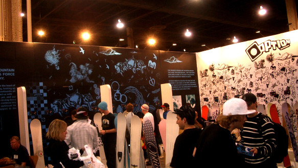 2008 Option Snowboards SIA Tradeshow Booth